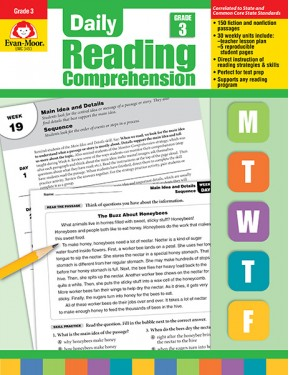Daily Reading Comprehension, Grade 3 Te