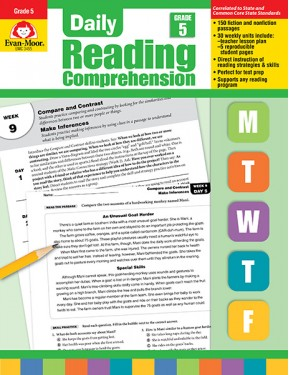 Daily Reading Comprehension, Grade 5 Te
