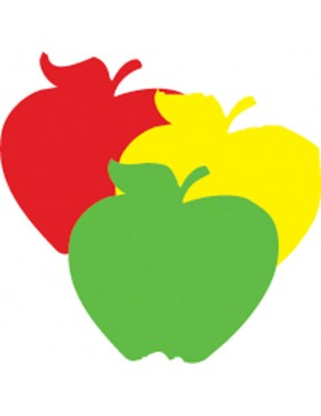 APPLES MINI CUT-OUTS MULTI DESIGN (RED,YELLOW,GREEN)