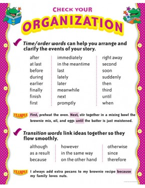#10CHECK YOUR ORGANIZATION - WRITING HELPERS CHART