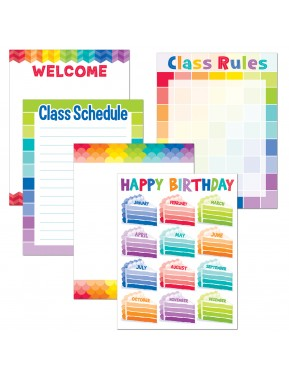 PAINTED PALETTE CLASSROOM ESSENTIALS CHART PACK