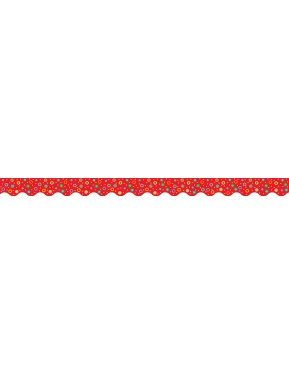 Dots on Red Border