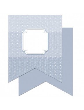"""Painted Palette Slate Gray Pennants 10"""" Designer Cut-Outs"""