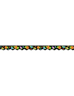 DOTS & FLOWERS SCALLOPED BORDER TRIM FROM MARY ENGELBREIT