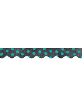 Chalk It Up! Dots on Chalkboard! Turquoise Border