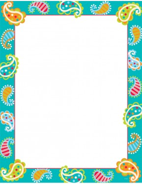 DOTS ON TURQUOISE PAISLEY – CLASSROOM ESSENTIALS CHART