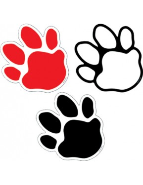 36 DESIGNERS CUT OUT PAW PRINTS