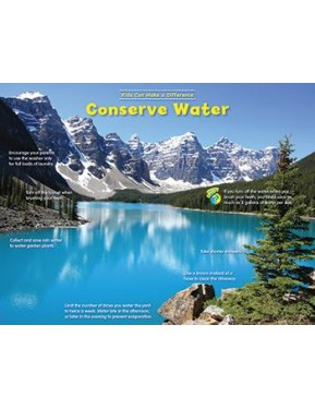 CONSERVE WATER – KIDS CAN MAKE A DIFFERENCE ENVIRONMENTAL CHART