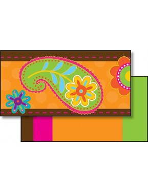 Chocolate Paisley Double-Sided Border Trim