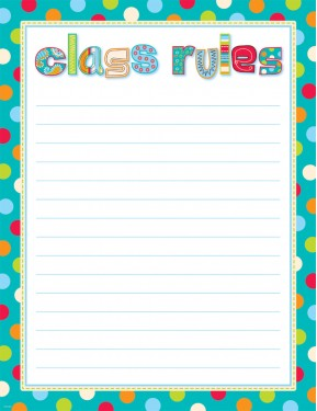 DOTS ON TURQUOISE CLASS RULES – CLASSROOM ESSENTIALS CHART