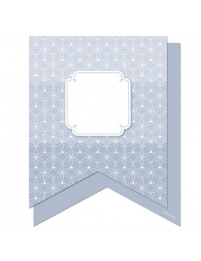"""Painted Palette Slate Gray Pennants 6"""" Designer Cut-Outs"""
