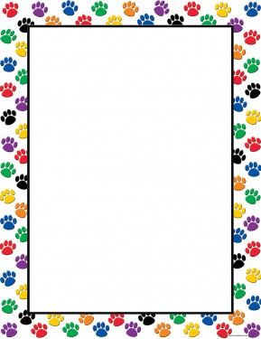 COLORFUL PAW PRINT CHART